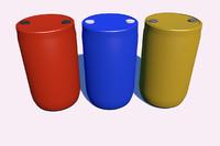 c4d plastic barrel
