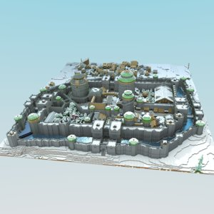 3ds max minecraft castle