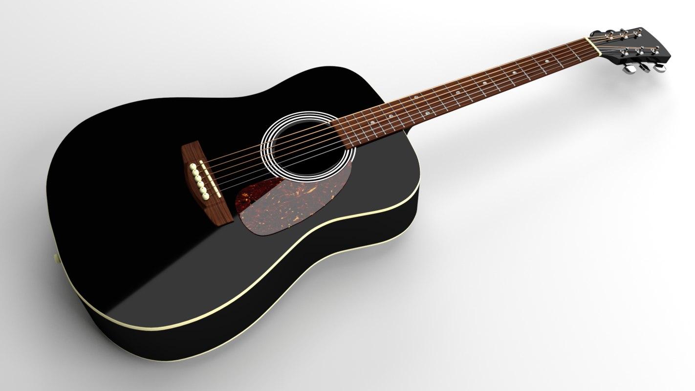 3dsmax western acoustic guitar