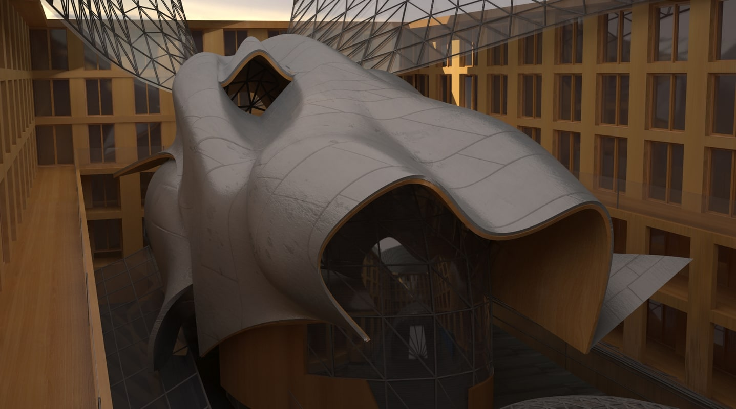 3d model dg bank frank gehry