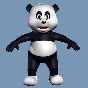 3d model of panda kid