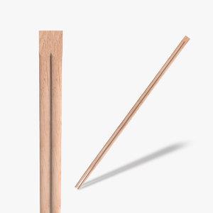 wooden chopsticks 3d 3ds