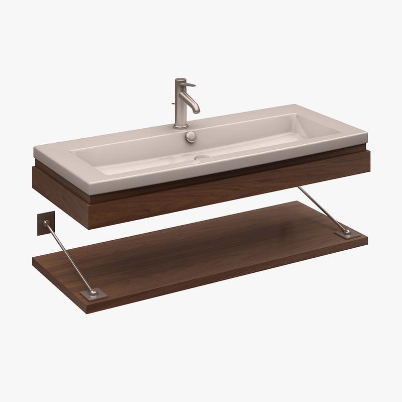 washbasin duravit 3d model