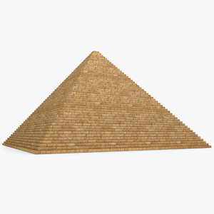 3d egyptian pyramid model