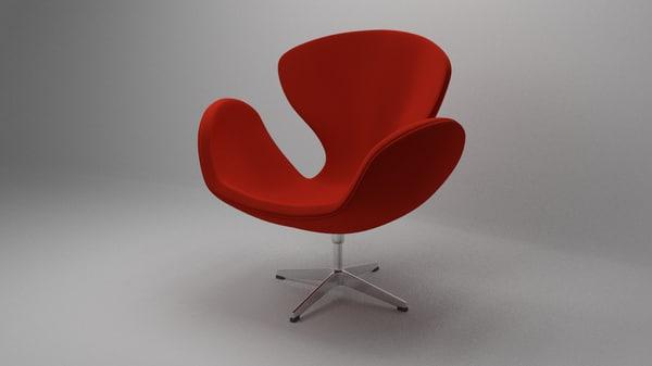 3d model swan chair