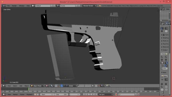 glock 40 3d 3ds