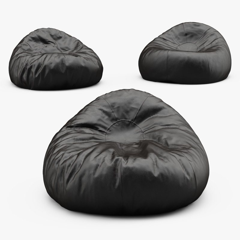 3d bag chair model