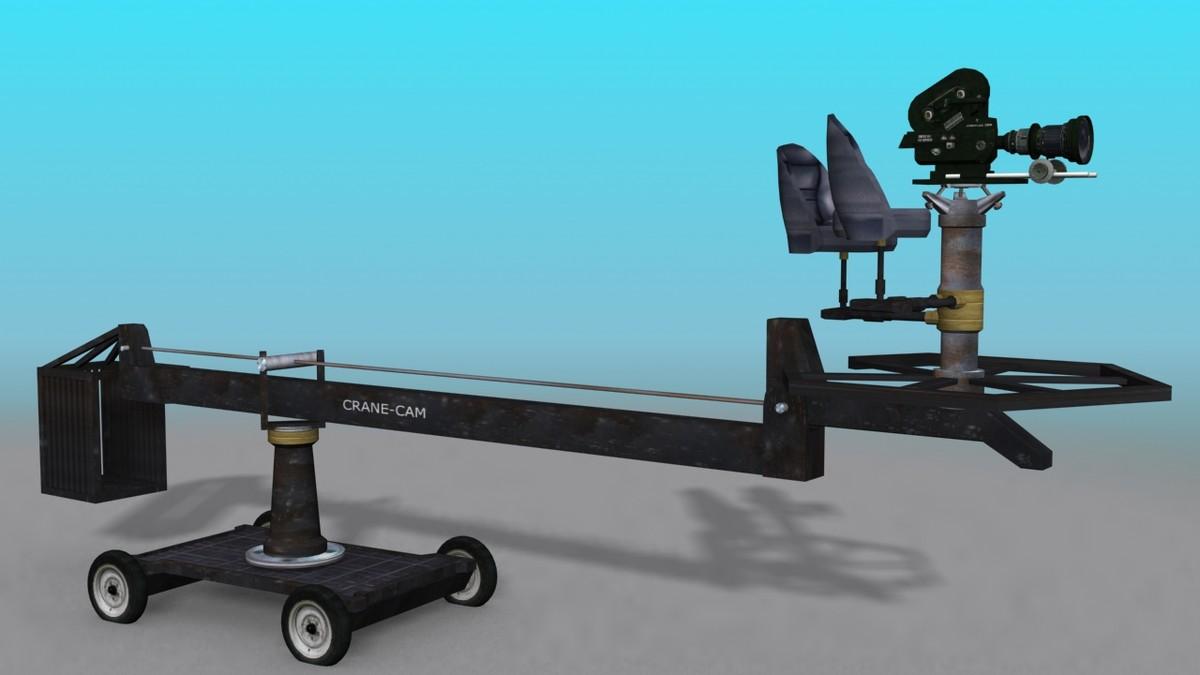3d model hollywood camera crane