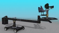 3d model hollywood camera crane