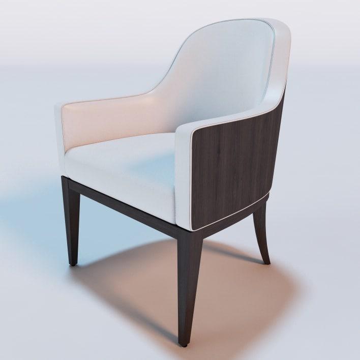 hemingway dining chair 3d c4d