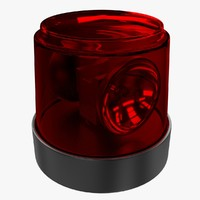 warning light 3d obj