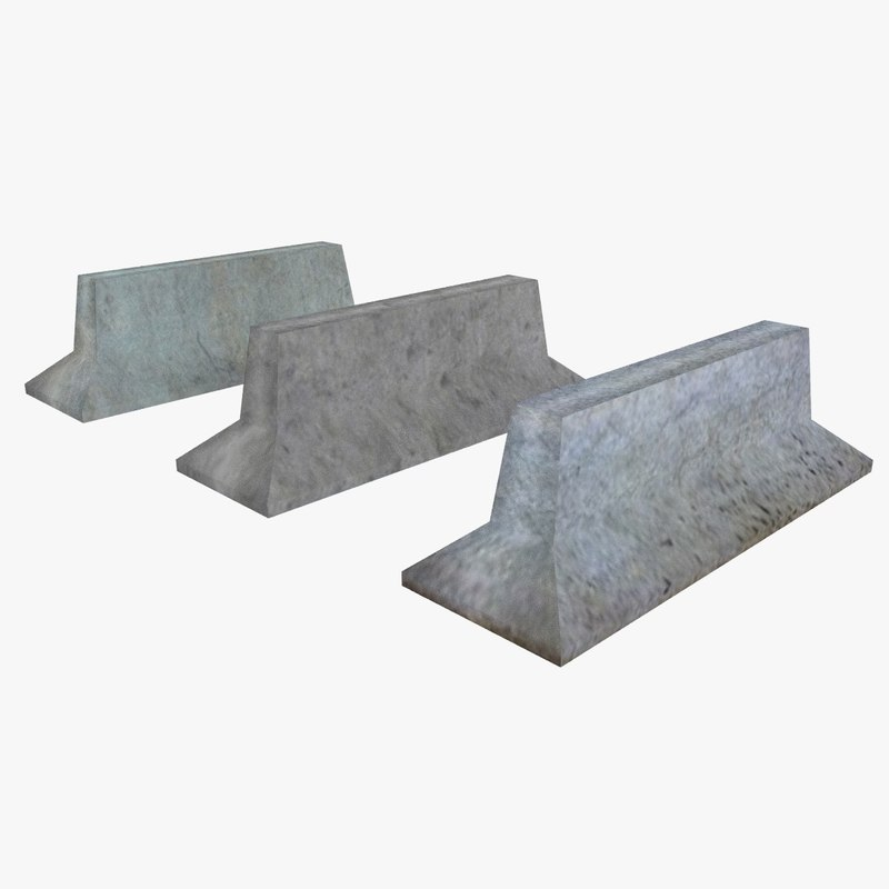 free obj mode road barriers