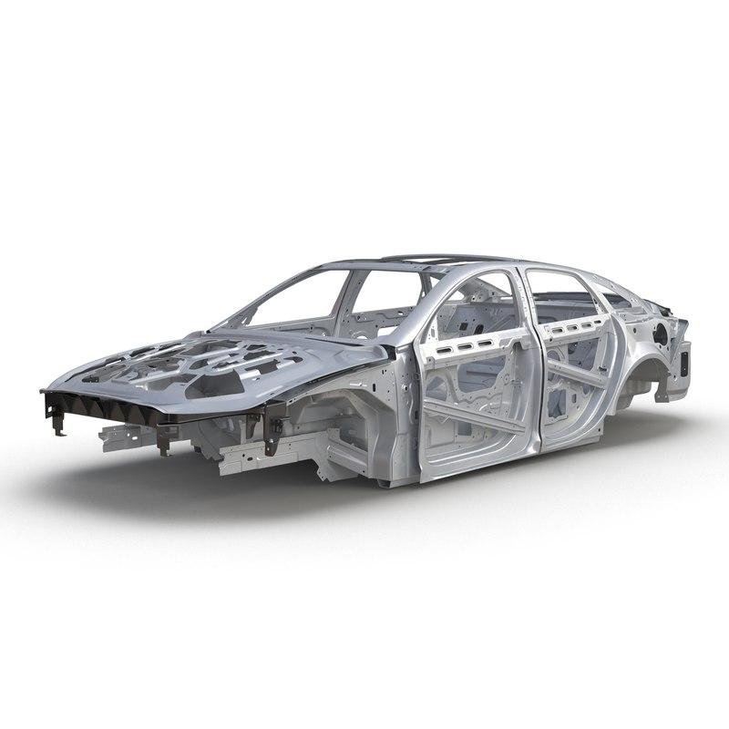 car frame 6 3d model