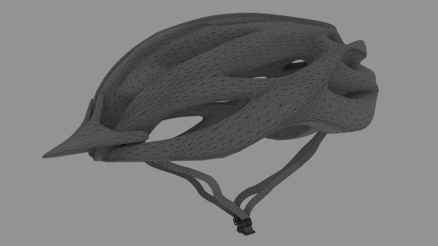 3d bike helmet 4 model