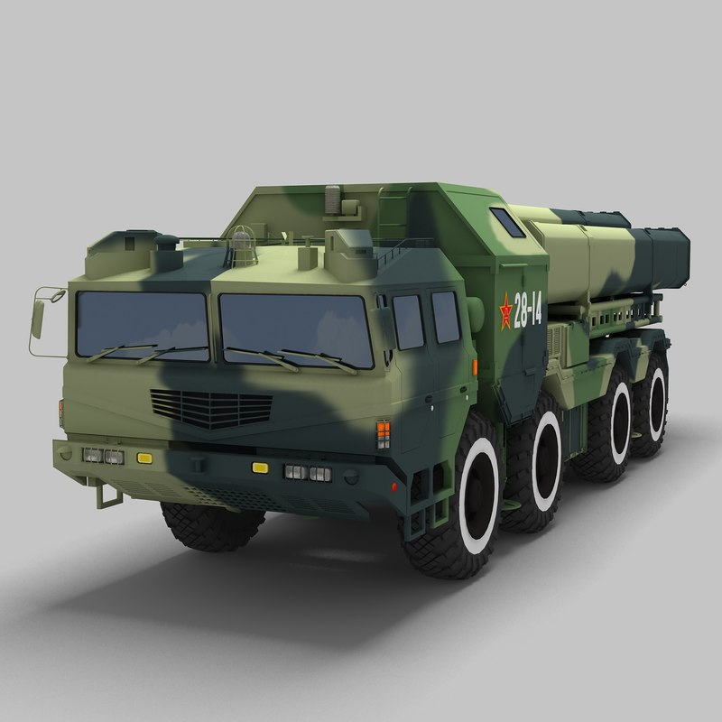cj-10 long range cruise missile 3d max
