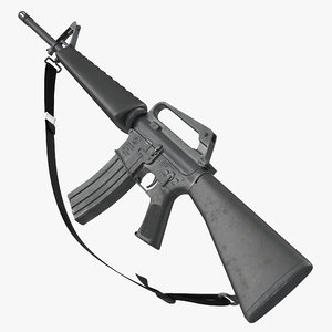 3d model assault rifle m16 2
