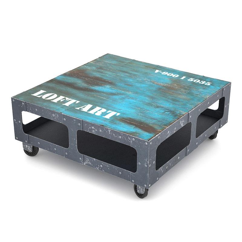 loft art coffee table 3d model