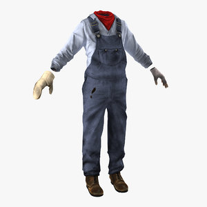 worker clothes 3d model