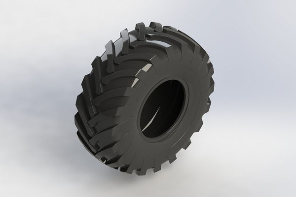 free tractor tyre 3d model