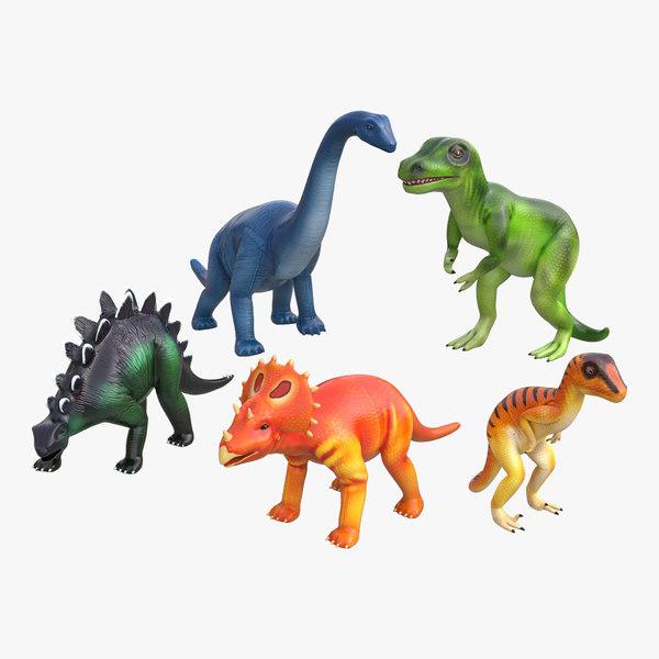 c4d toy dinosaurs
