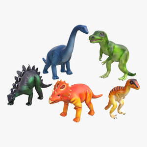 c4d toy dinosaurs