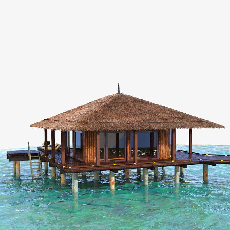 resort huts 3d max