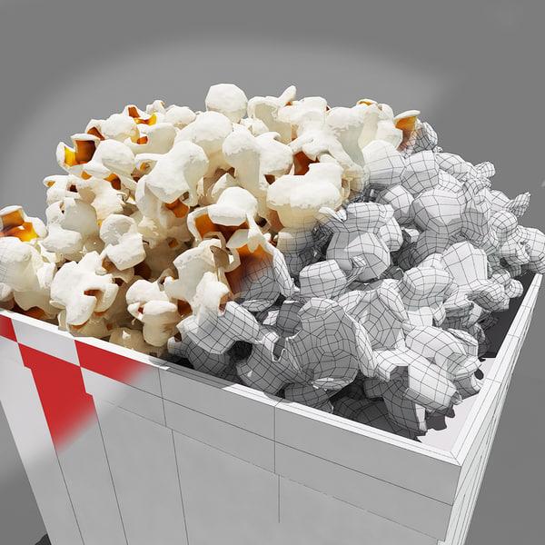 popcorn corns 3d model