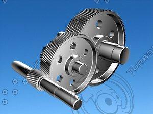 helical gear 3d model