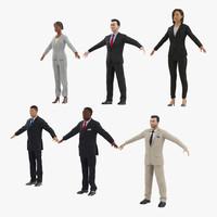 business people 3d model