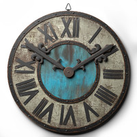 3d wall clock loft style model