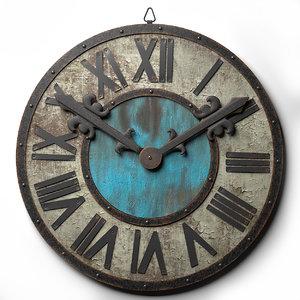 3d wall clock loft style model