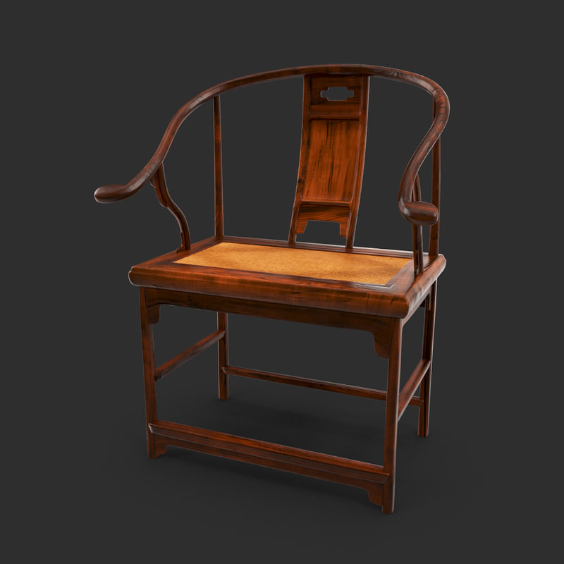 max retro chinese wooden chair