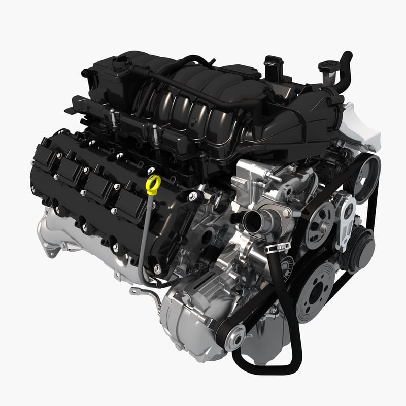 turbo engine 3d model