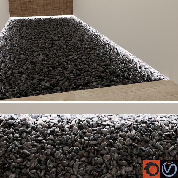 black pebbles 3d model