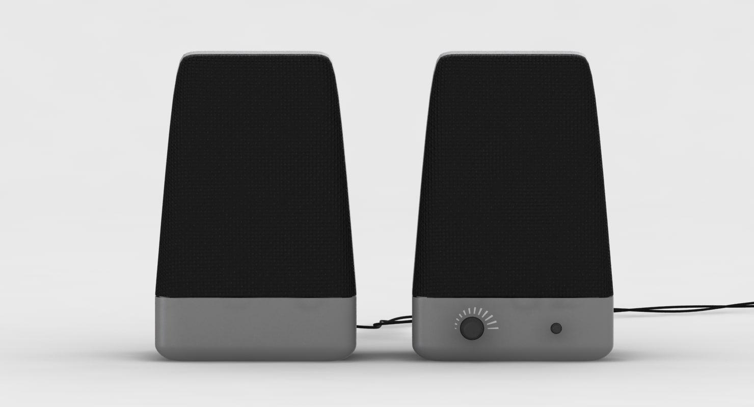 3d speaker computer model
