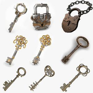 keys locks 3d model