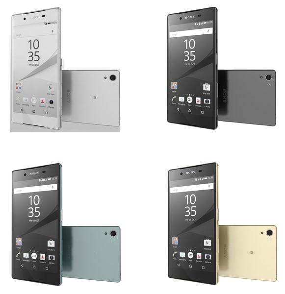 sony xperia z5 premium 3d model