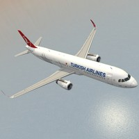 3d model sharkleted a321neo turkish airlines