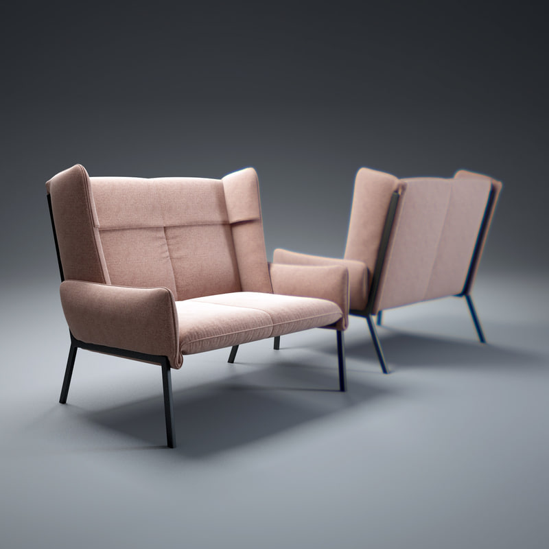 3d model beau-fixe-sofa