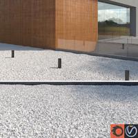 3d model white gravel