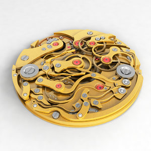 watch mechanism v5 3d model