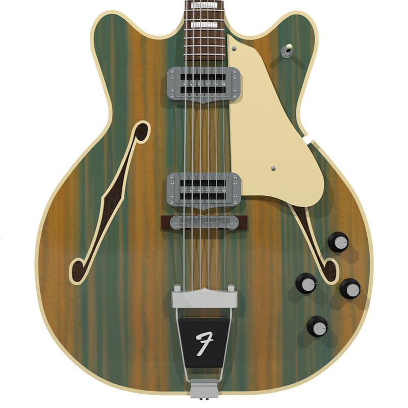 c4d guitar fender wildwood