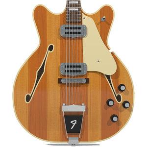 guitar fender wildwood 3d c4d