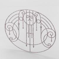 decorative wrought iron lattice obj