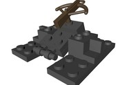 lego medieval crossbow stand 3ds