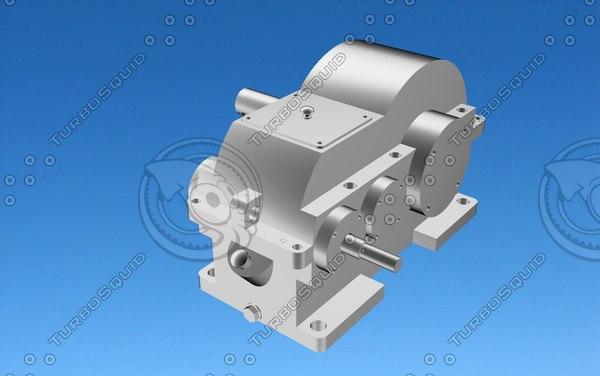 maya helical gear mechanism