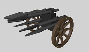 lego medieval spear waggon 3d 3ds