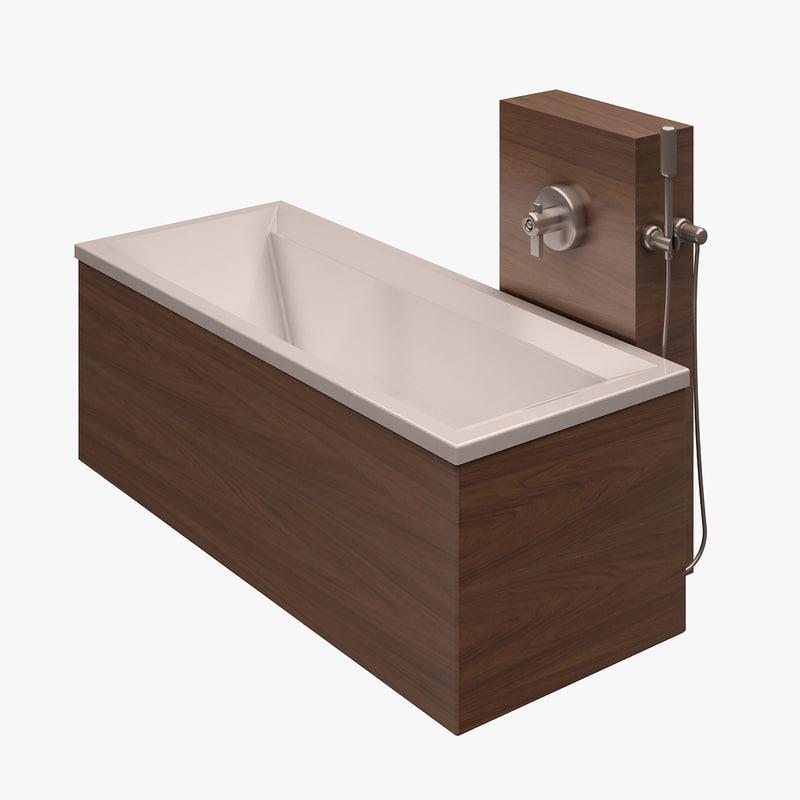 bathtub duravit bath 3d obj