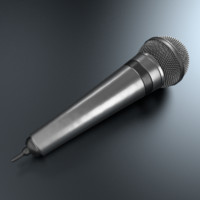 3d microphone blender cycles model
