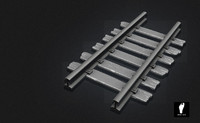 sculpted railroad track 3d max